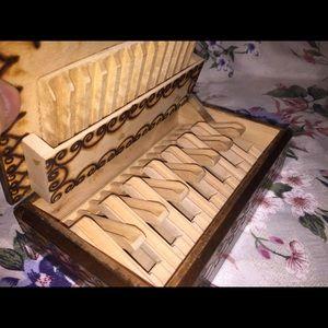Other - Vintage Burn Carved Cigarette Cigar Box